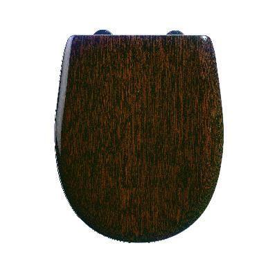 Abattant wc bois mat -Wengé brillant- - descent...