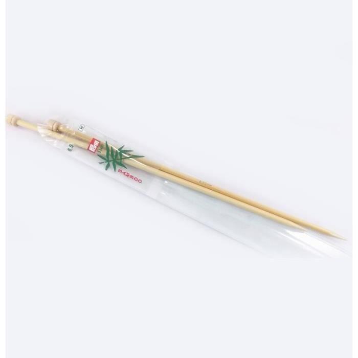 PRYM Aiguilles à Tricoter à Boule Bambou 33 cm 9mm