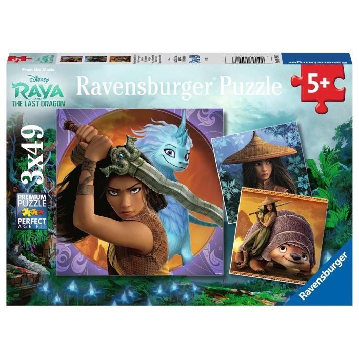 Puzzles 3x49 p - Raya, la courageuse guerrière / Disney Raya et dernier dragon