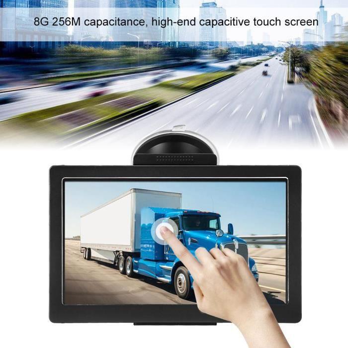 Cartes UK Europe Mise /à Jour Gratuite /à Vie Poids Lourd GPS Voiture 9 Pouces Navigation Auto 8GB Navigateur avec HD /Écran Tactile Multi-Languages Guidage Vocale pour Voiture Camion
