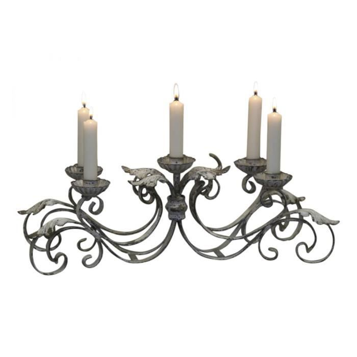 grand chandelier 5 bougies achat vente bougeoir cdiscount. Black Bedroom Furniture Sets. Home Design Ideas