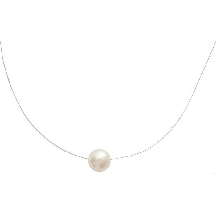 collier de perle ras le cou