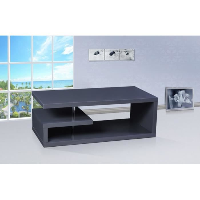 table basse tv glee laqu e couleur gris anthr achat vente meuble tv table basse tv glee. Black Bedroom Furniture Sets. Home Design Ideas