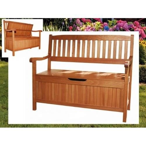 banc de jardin en bois marron houston achat vente banc banc de jardin en bois mar cdiscount. Black Bedroom Furniture Sets. Home Design Ideas