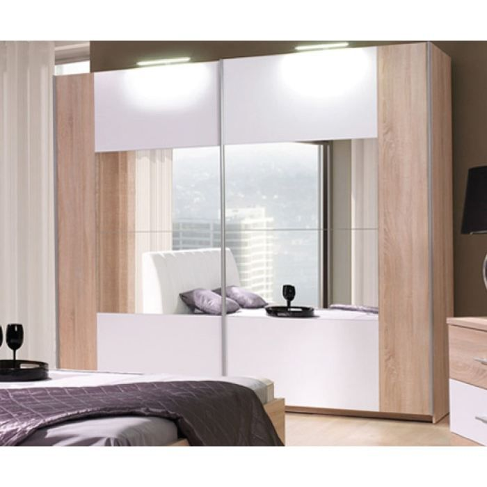 armoire chambre a coucher glory naturel 2m achat vente armoire de chambre armoire glory 2m. Black Bedroom Furniture Sets. Home Design Ideas