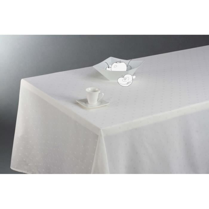 Nappe Motif Jacquard Anti Taches Grande Table Achat Vente Nappe De Table Cdiscount