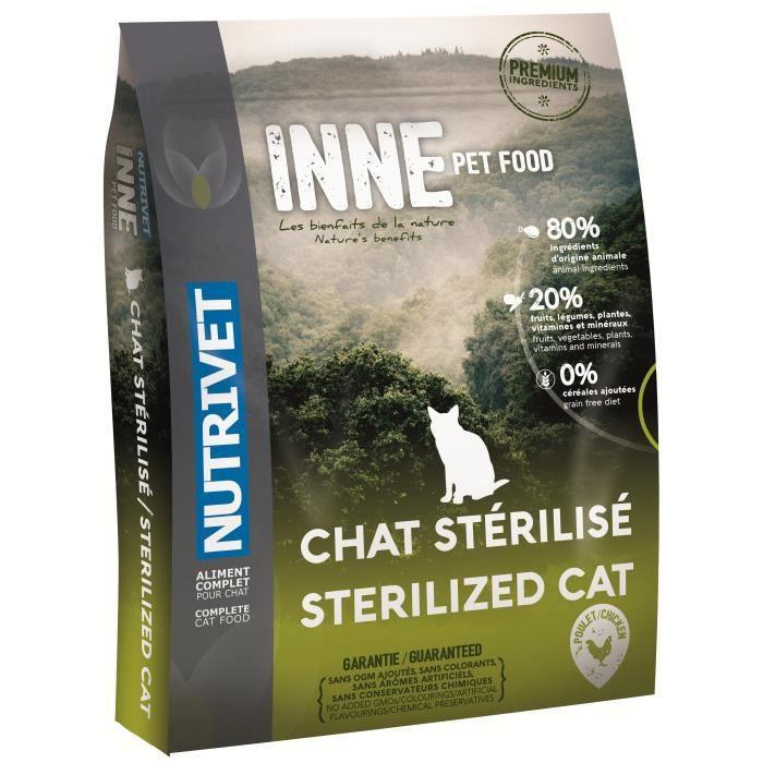CROQUETTES NUTRIVET Croquettes Inne - Pour chat stérilisé - 6