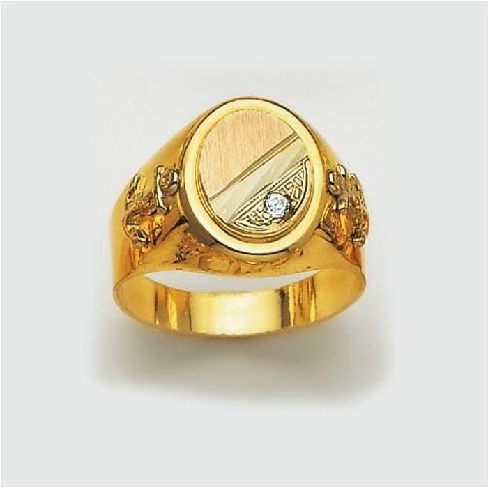 bague homme or 18 carats