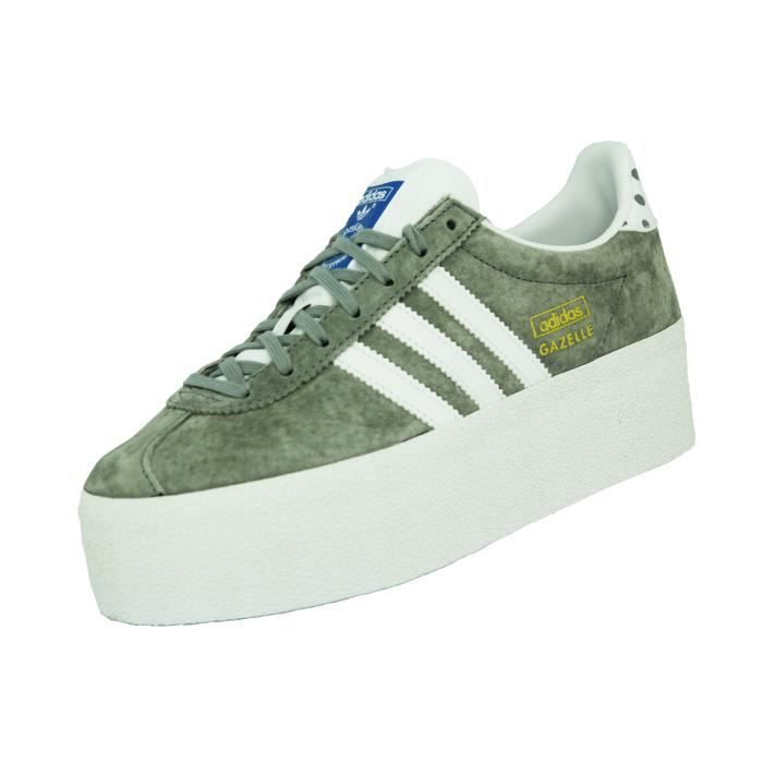 Adidas GAZELLE OG PLATFORM UP EF Chaussures Sneake Gris Gris ...