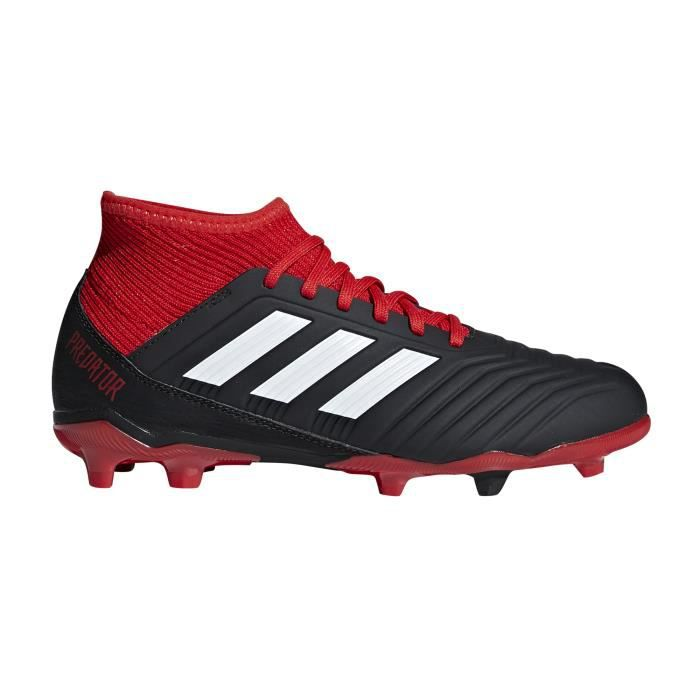 Chaussures football adidas Predator 18.3 FG Noir Rouge Junior