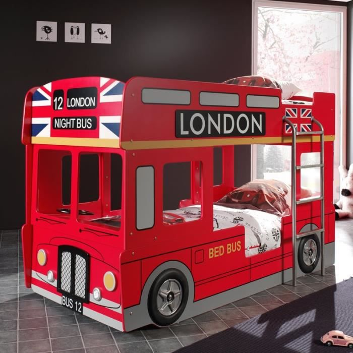 lit enfant bus achat vente pas cher. Black Bedroom Furniture Sets. Home Design Ideas