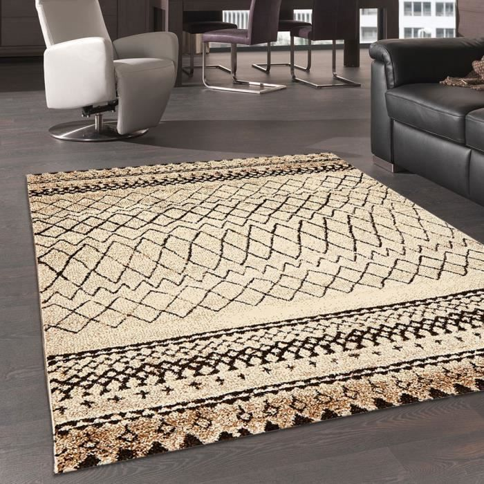 tapis d 39 inspiration berber morocco tribal beige 120x170 par unamourdetapis tapis moderne. Black Bedroom Furniture Sets. Home Design Ideas