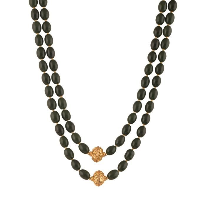 Womens Beads Jewellery Black Shell Pearl Multi-strand Necklace For (12550) FLNRX