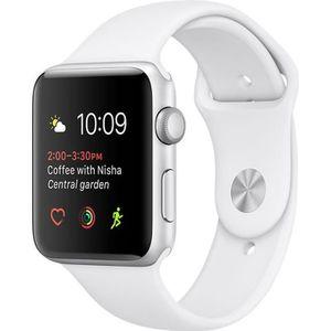 MONTRE CONNECTÉE Apple WATCH Serie 2 38mm Grise Bracelet blanc U