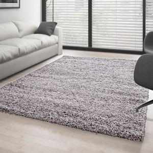 TAPIS Tapis Shaggy à poils longs couleur unique differen