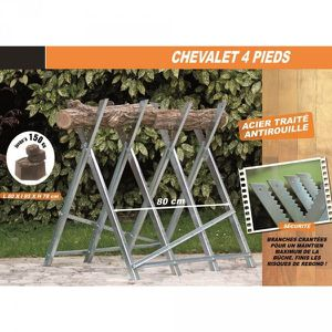 SUPPORT TAILLE - COUPE  CHEVALET BUCHE 4 PIEDS