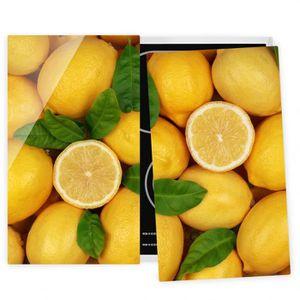 PLAQUE INDUCTION Couvre plaque de cuisson - Juicy Lemons - 52x60cm,