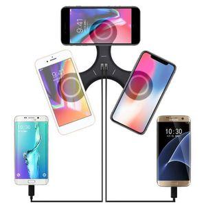 CHARGEUR TÉLÉPHONE NEUFU 5 En 1 Qi USB-Sans Fil Chargeur Pad Dock LED