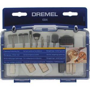ACCESSOIRE MACHINE DREMEL Kit nettoyage/polissage de 20 pièces 684