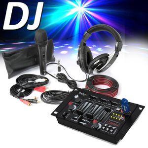 TABLE DE MIXAGE Fenton SH400 Kit accessoires DJ - Casque + Micro +