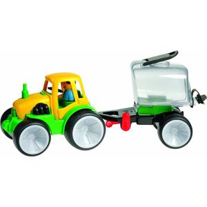 TRACTEUR - CHANTIER Gowi - jouet remorque tracteur - roues en caoutcho