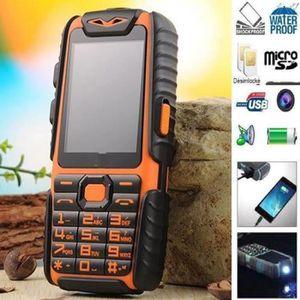 Téléphone portable WaterProof A6 Power Bank Téléphone antichocs Haut-