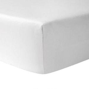 DRAP HOUSSE Drap Housse 160 x 200 - BLANC 100% coton 57 fils /