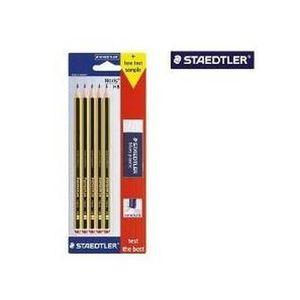 CRAYON GRAPHITE STAEDTLER - Blister de 5 crayons graphite HB Noris