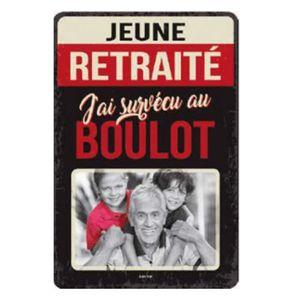 CADRE PHOTO Plaque Metal Cadre Photo 30x20 Cm Jeune Retraite j
