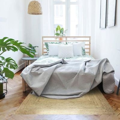 FULL Tapis de salon ou de chambre - Jute - 120 x 170 cm - Naturel