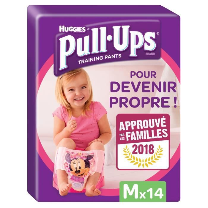 HUGGIES Pull-Ups Girl Taille 5 - De 11 à 18kg - 14 couches
