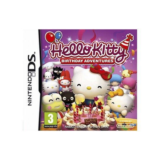 JEU DS - DSI HELLO KITTY BIRTHDAY ADVENTURES + sacoche / DS