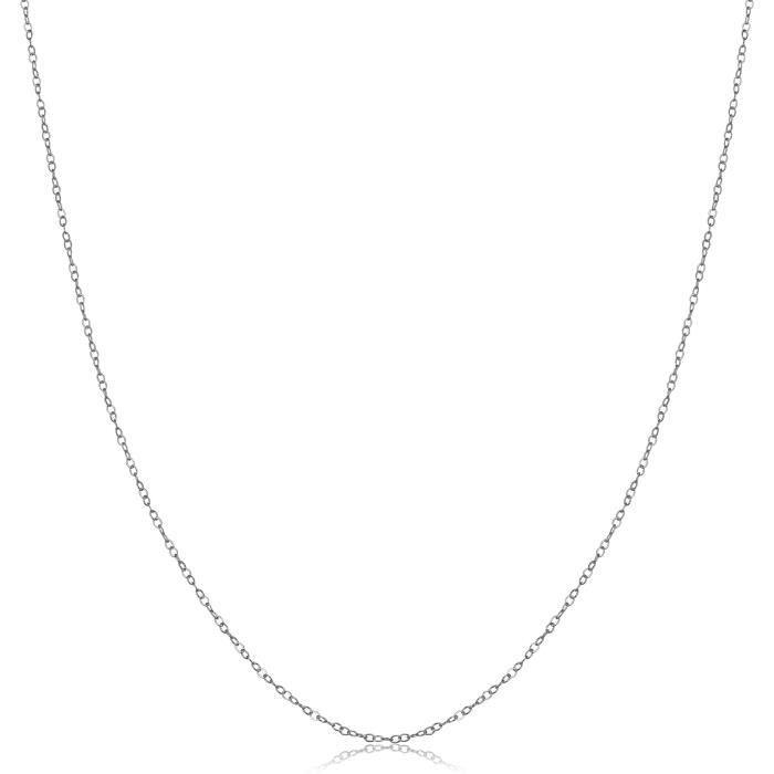Chaine De Cou Vendue Seule Femmes en or 14k 0.9mm Câble de chaîne (jaune, blanc ou rose) VZ6N6