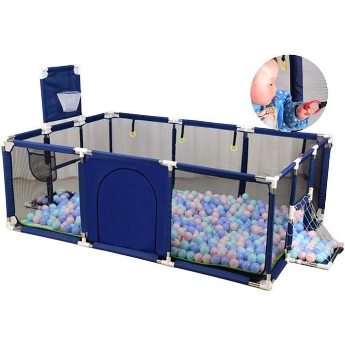 HJWMM Parc for Bébé, Grand Oxford Barrière de Securité Enfant avec Panier de Basket But de Football, Centre de Jeux de Réflexio[284]
