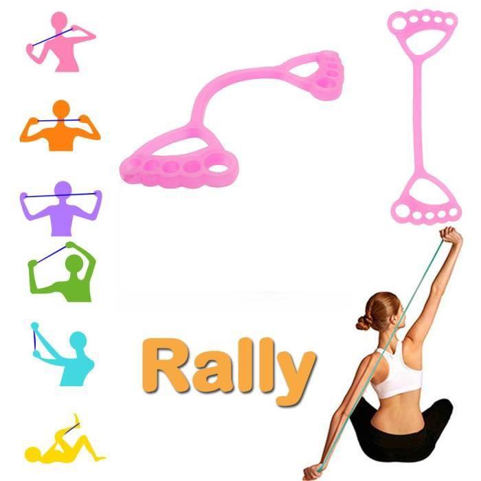 Bande de résistance Yoga Pilates Corde de traction élastique Fitness Bande de résistance en silicone WJY200416116PK_4807