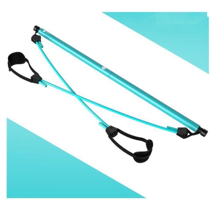 Corde élastique Accueil Yoga Bandes élastiques Barre de Traction Pilates Bâton Équipement de Fitness - Bleu lac