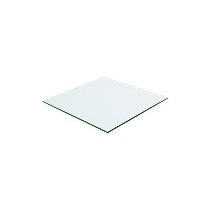 Plateau carré 80x80 en verre trempé transparent