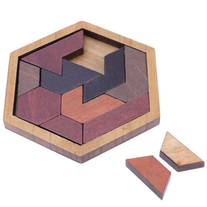12 pièces Puzzles Casse-tête en bois Jeux de Puzzle Jouets éducatifs en Blocs de construction pour TAPIS D'EVEIL - AIRE D'EVEIL