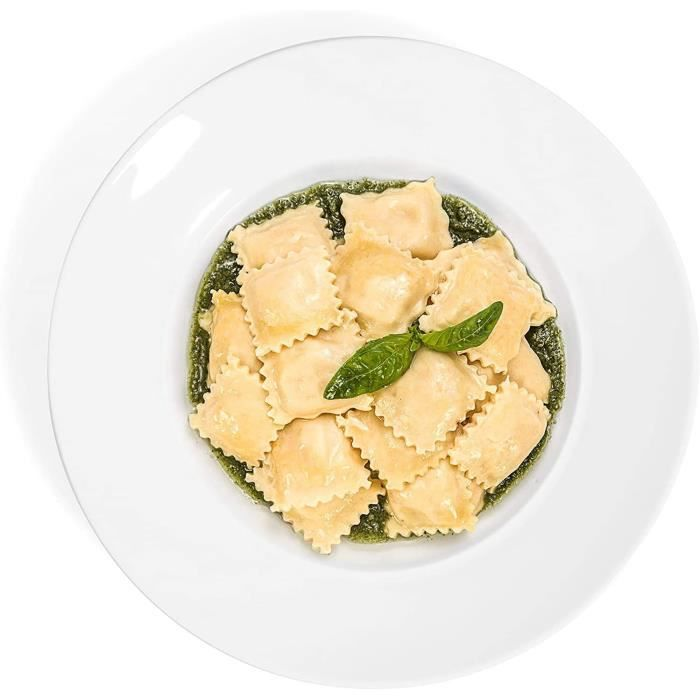 Lifestyle Lot de 4 assiettes à pâtes Milano assiettes à salade assiettes en porcelaine assiettes à pâtes Ø 265 cm