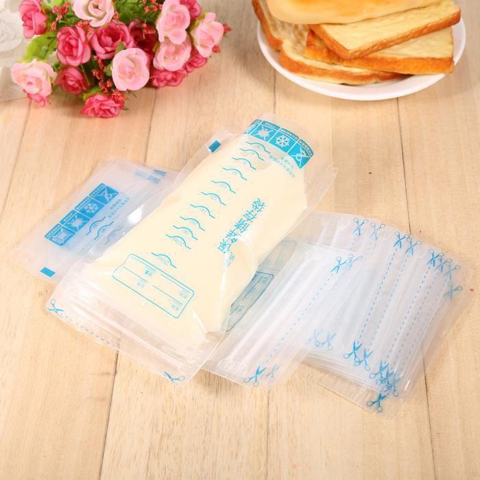 30Pcs 250ml Sachets de conservation pour lait maternel HB013 HB066