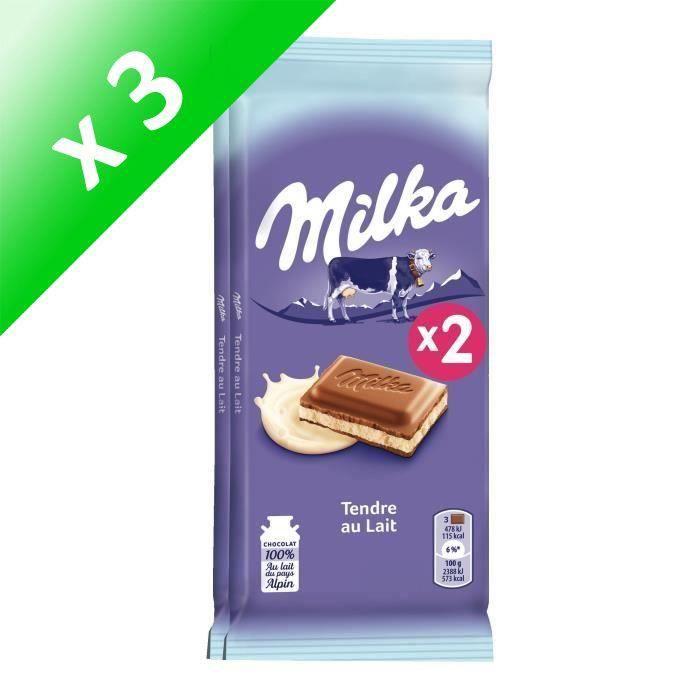 [LOT DE 3] Chocolat au lait fourré au lait 2x100g Milka