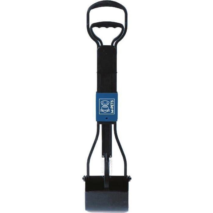 M-PETS Pelle à déjection pliable Waste Scoop - 66x15,5x13,5cm - Noir et bleu - Pour chien