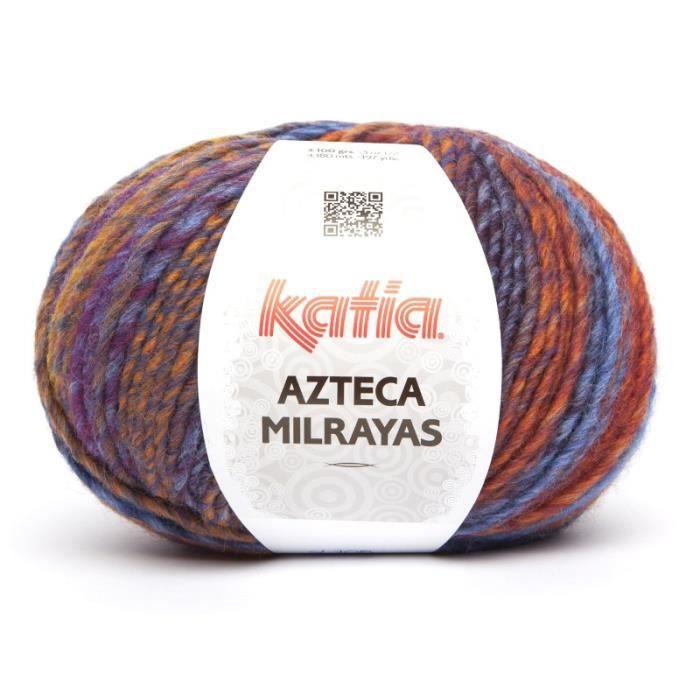 Laine AZTECA MILRAYAS Katia 708 Orange bleu