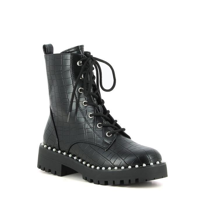 Boots croco et perles