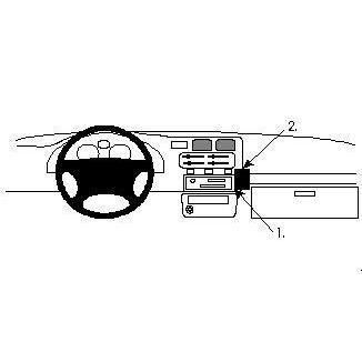 Fixation voiture Brodit Proclip Toyota RAV 4