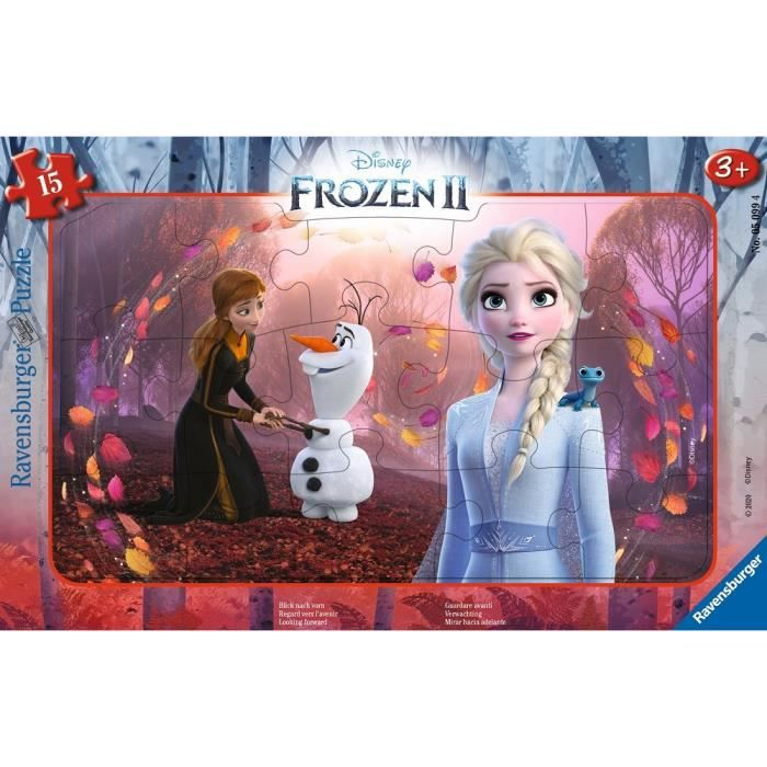 Puzzle cadre 15 p - Regard vers l'avenir / Disney La Reine des Neiges 2