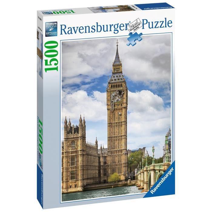Puzzle 1500 p - Drôle de chat sur Big Ben