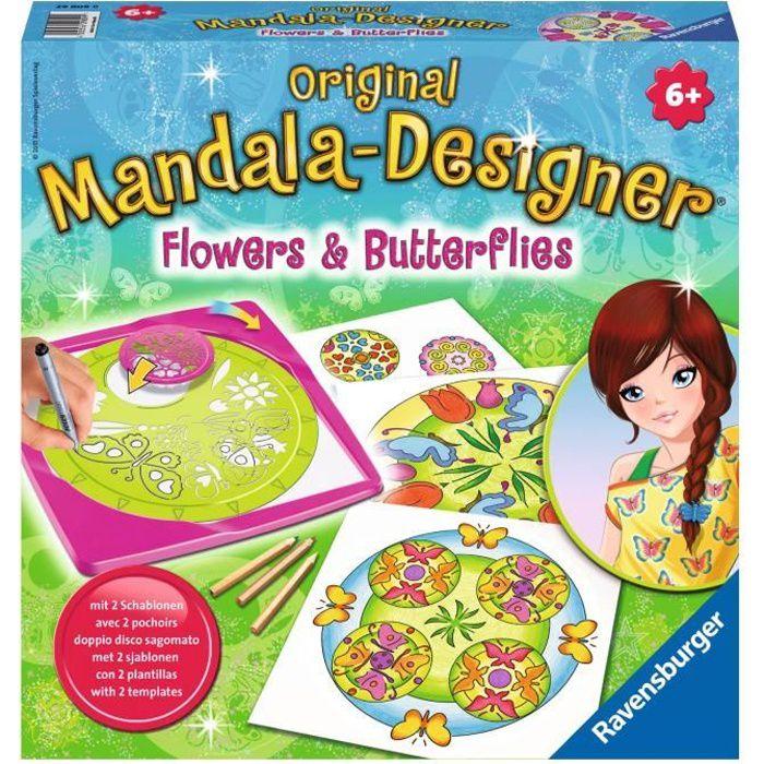 Mandala - midi - Flowers & butterflies