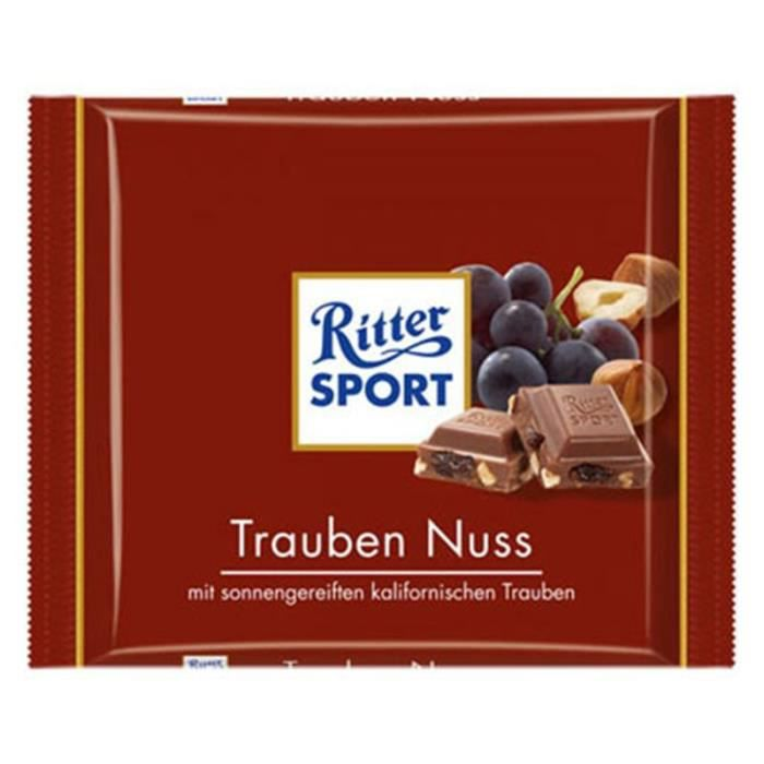 Ritter Sport Raisin Noisettes (lot de 4)
