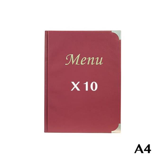 10 Protège-menus A4 Basic bordeaux 10 Bordeaux